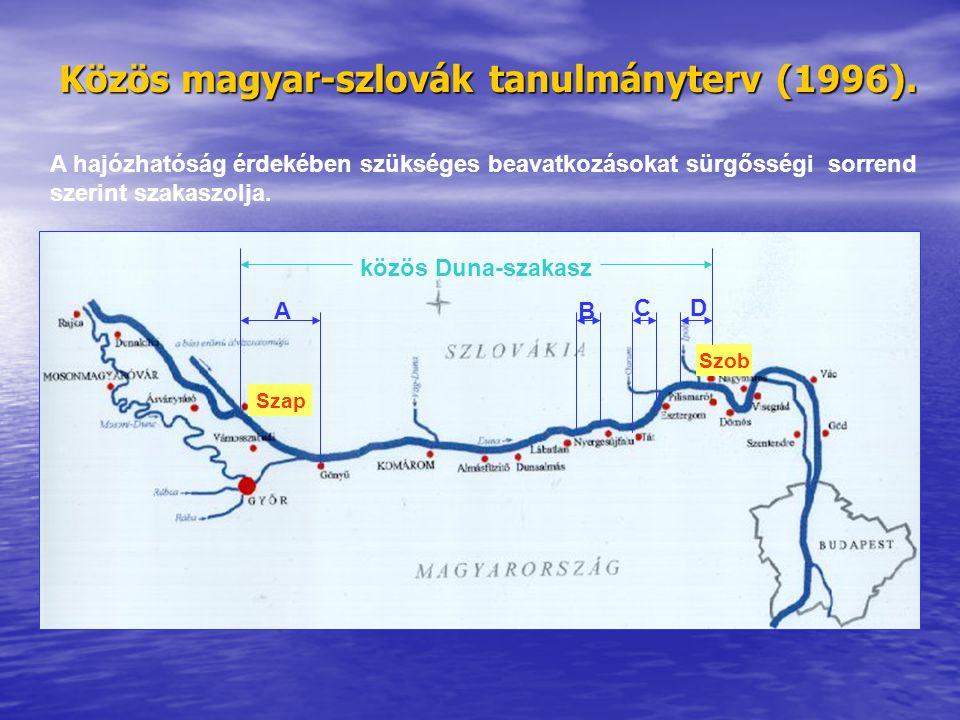 Közös magyar-szlovák tanulmányterv (1996).