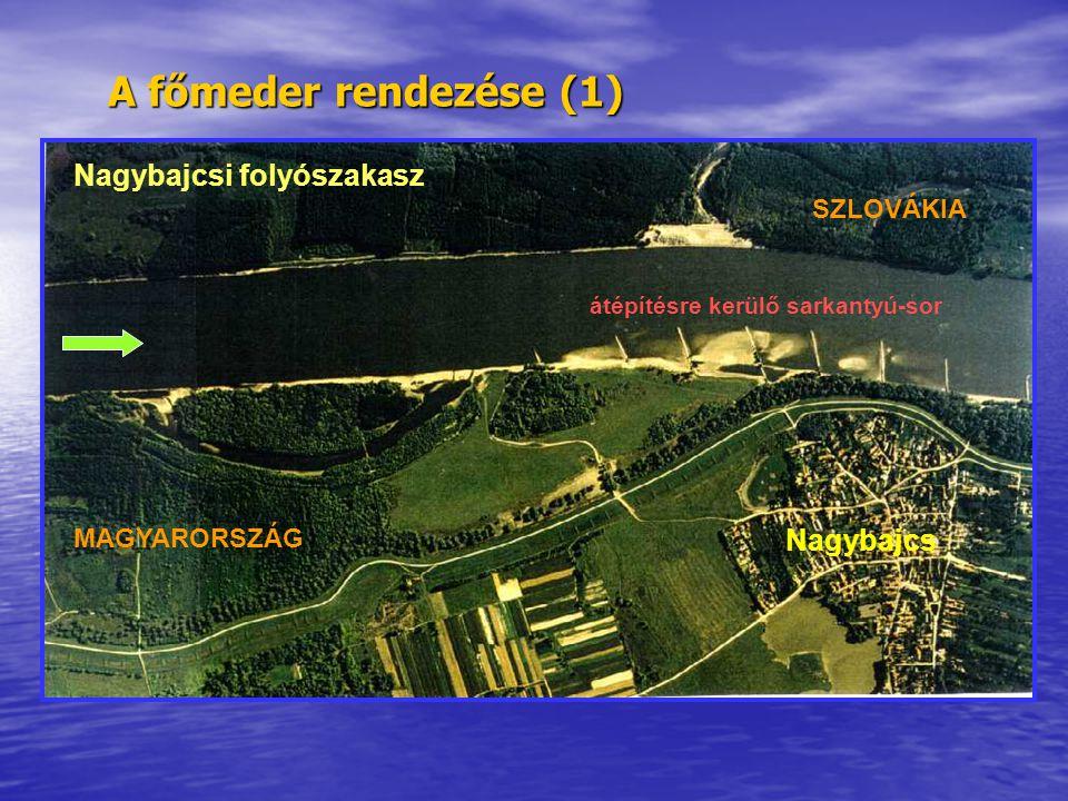 A főmeder rendezése (1) Nagybajcsi folyószakasz Nagybajcs SZLOVÁKIA