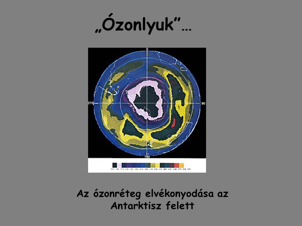 Az ózonréteg elvékonyodása az Antarktisz felett