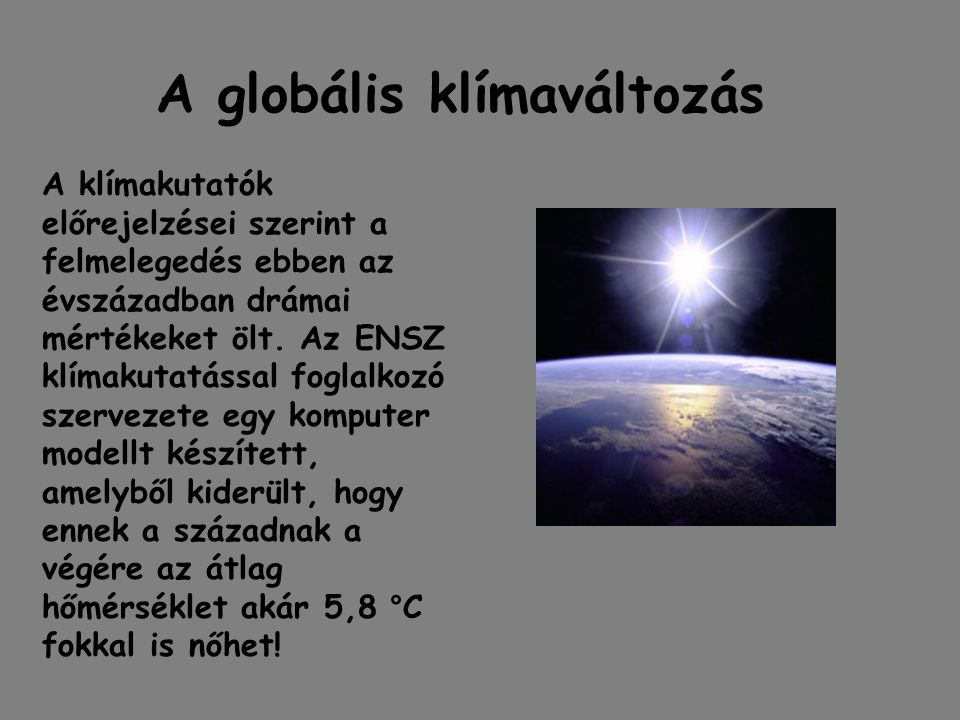 A globális klímaváltozás