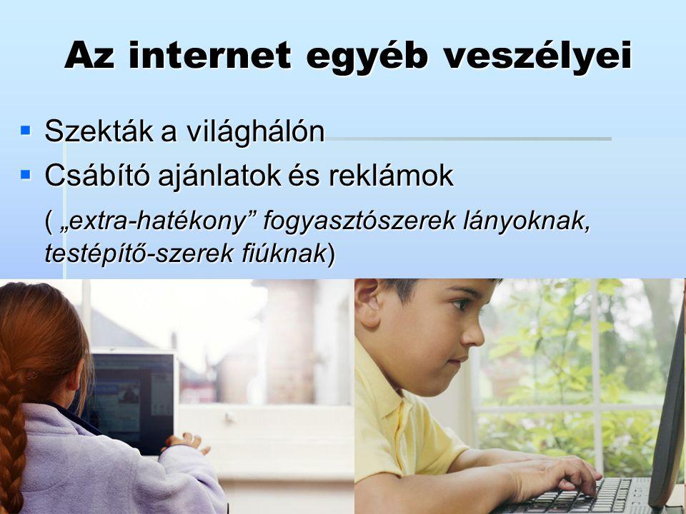 Az internet egyéb veszélyei