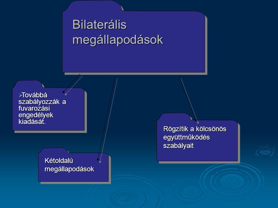 Bilaterális megállapodások