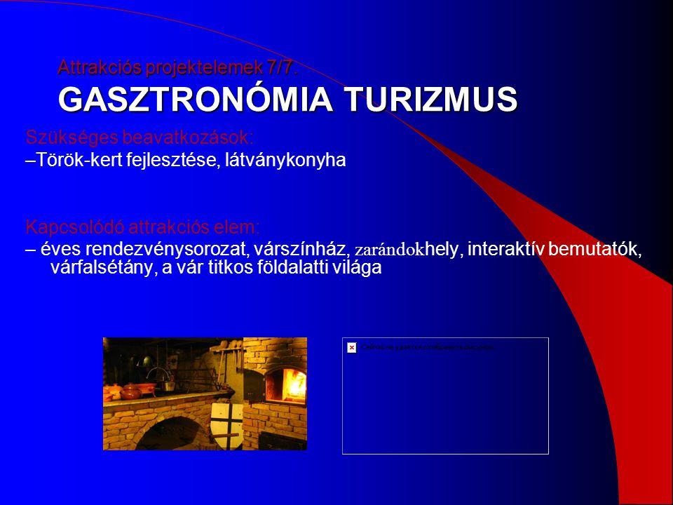 Attrakciós projektelemek 7/7. GASZTRONÓMIA TURIZMUS