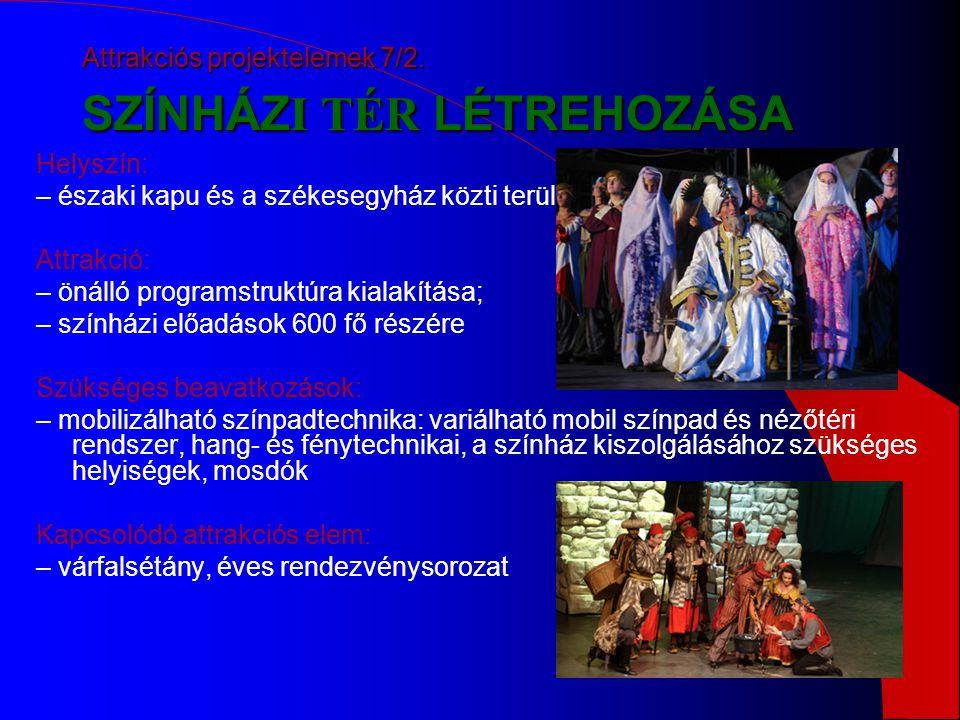 Attrakciós projektelemek 7/2. SZÍNHÁZI TÉR LÉTREHOZÁSA
