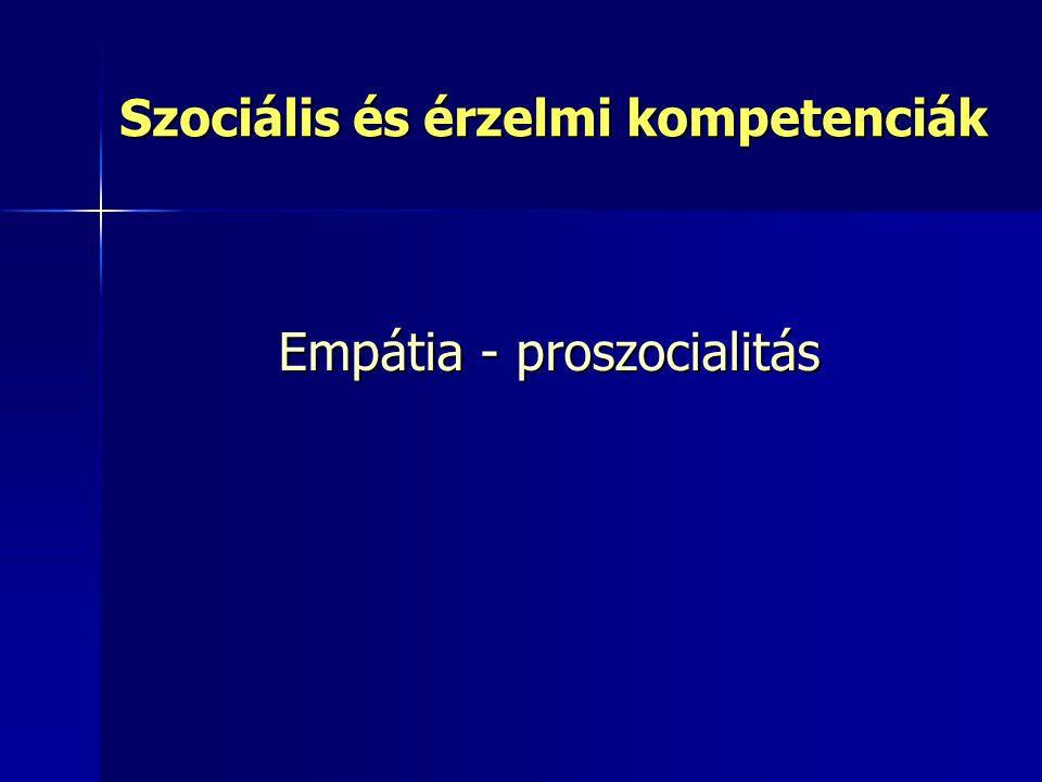 Szociális és érzelmi kompetenciák