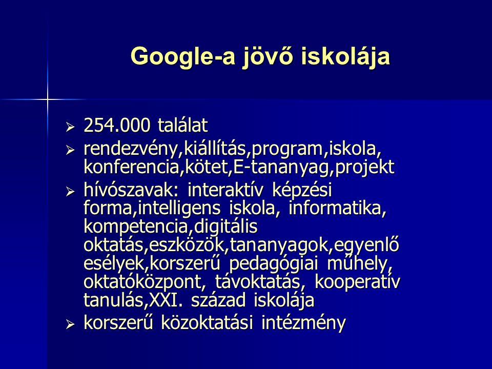 Google-a jövő iskolája