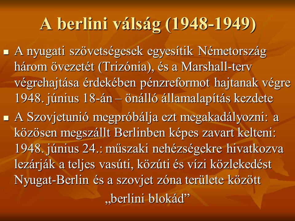 A berlini válság (1948-1949)