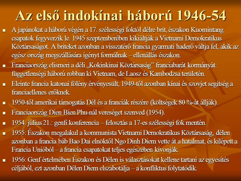Az első indokínai háború 1946-54