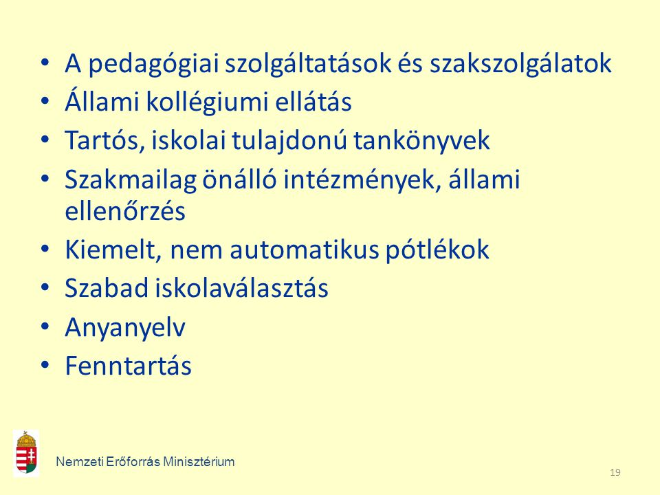 A pedagógiai szolgáltatások és szakszolgálatok