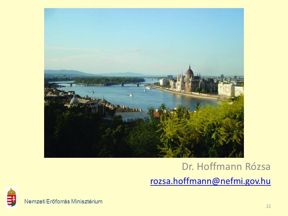 Dr. Hoffmann Rózsa rozsa.hoffmann@nefmi.gov.hu