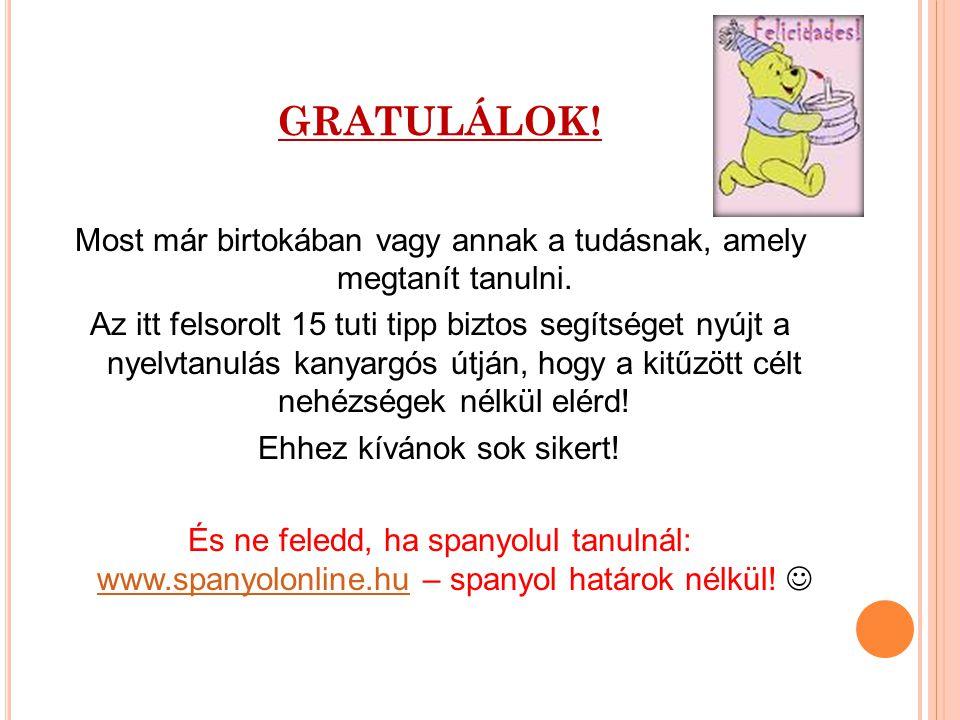 GRATULÁLOK!