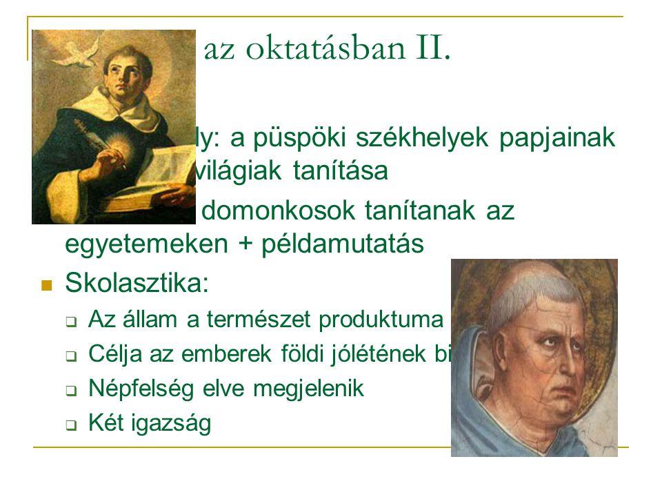 Az egyház az oktatásban II.
