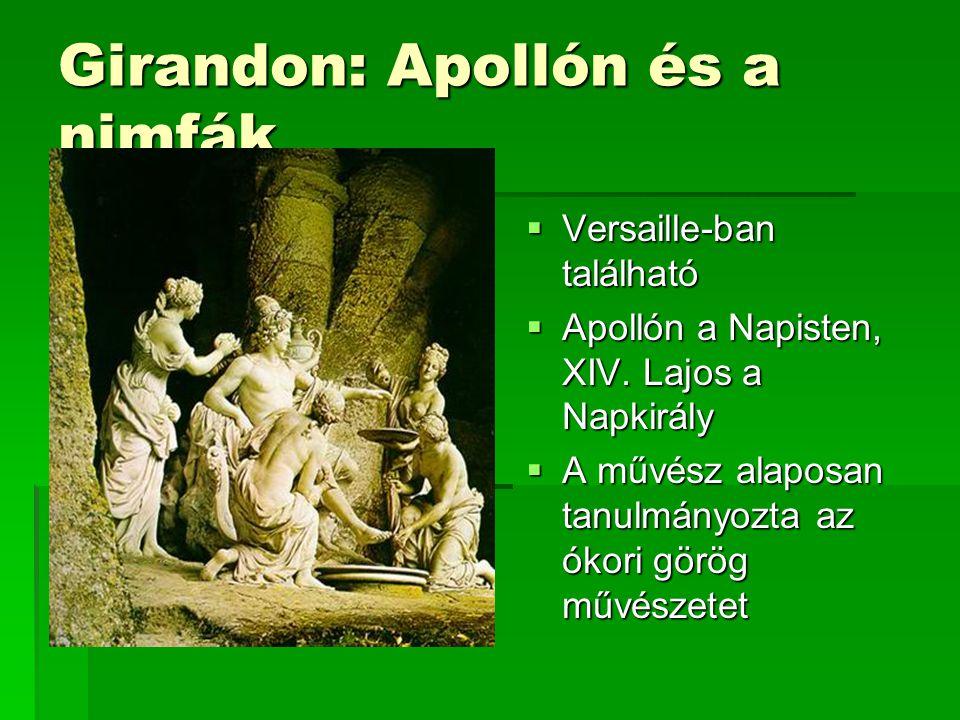 Girandon: Apollón és a nimfák