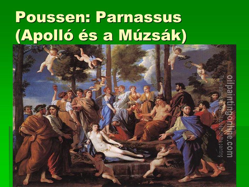 Poussen: Parnassus (Apolló és a Múzsák)