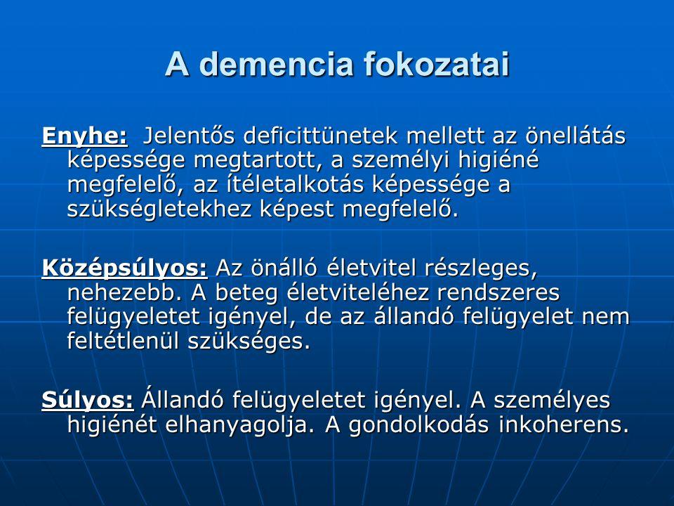 A demencia fokozatai
