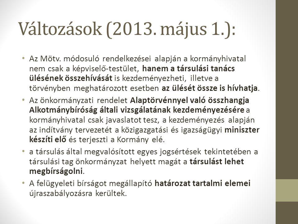 Változások (2013. május 1.):