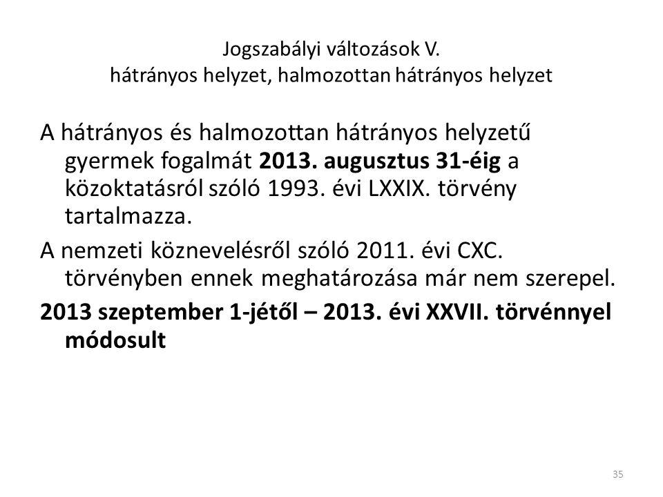 2013 szeptember 1-jétől – 2013. évi XXVII. törvénnyel módosult