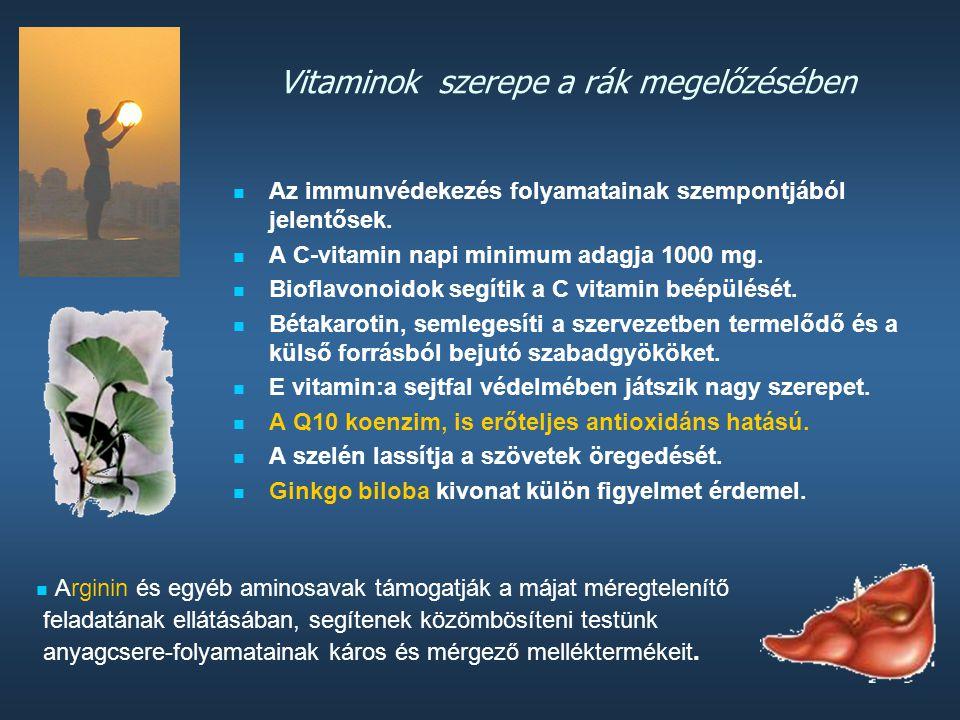 Vitaminok szerepe a rák megelőzésében