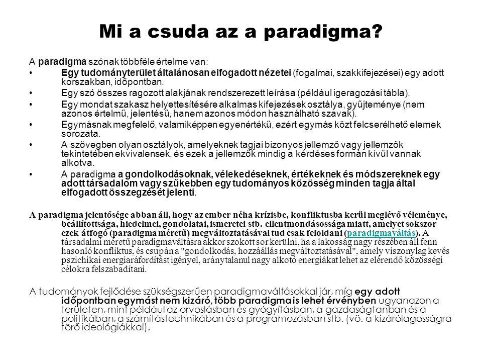 Mi a csuda az a paradigma