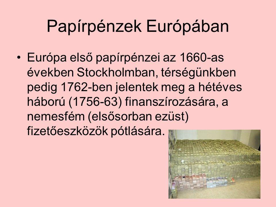 Papírpénzek Európában