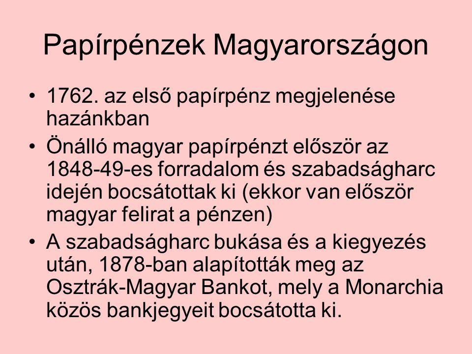 Papírpénzek Magyarországon