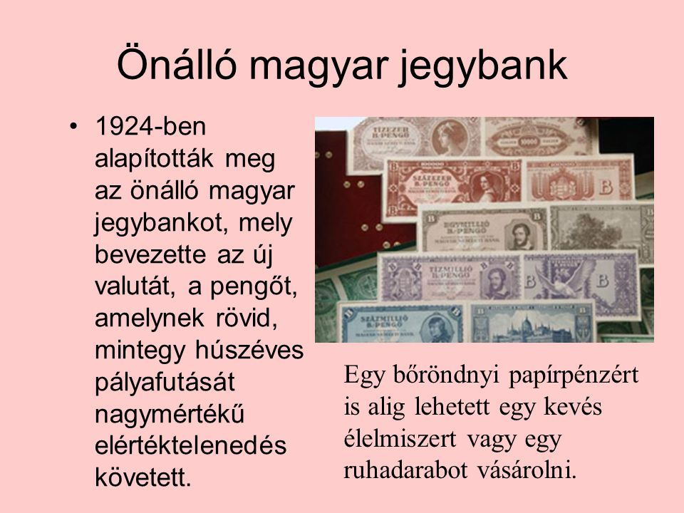 Önálló magyar jegybank