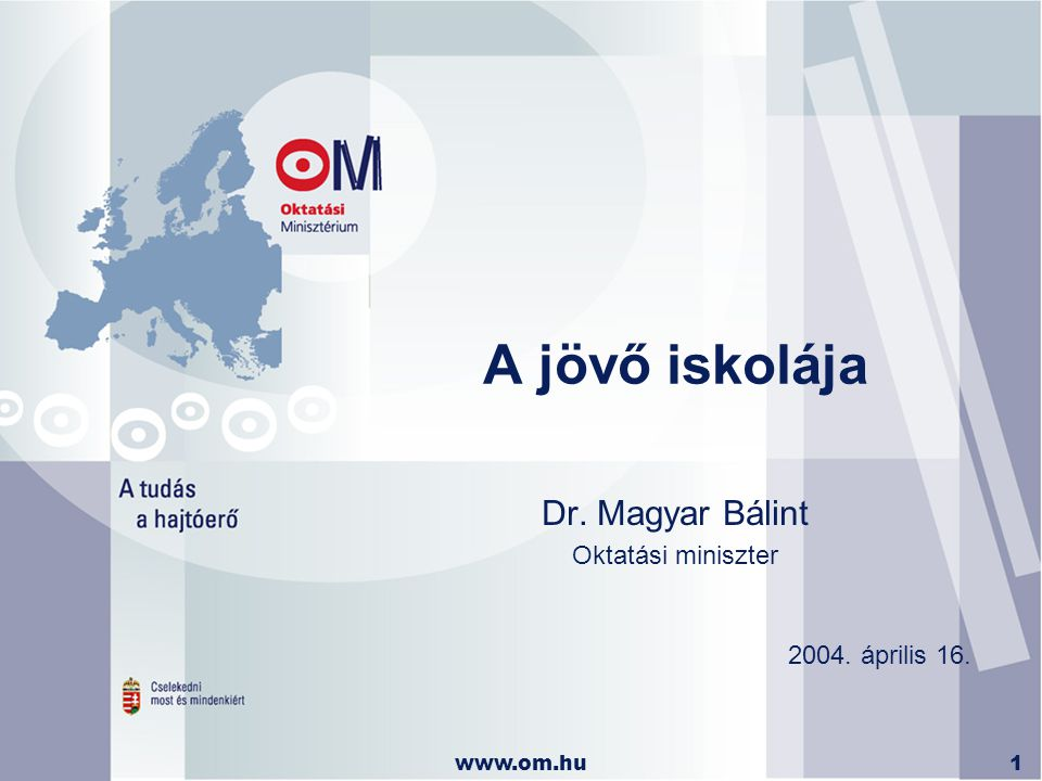 Dr. Magyar Bálint Oktatási miniszter