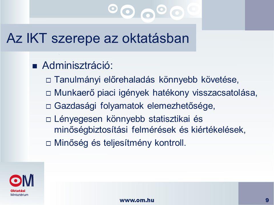 Az IKT szerepe az oktatásban