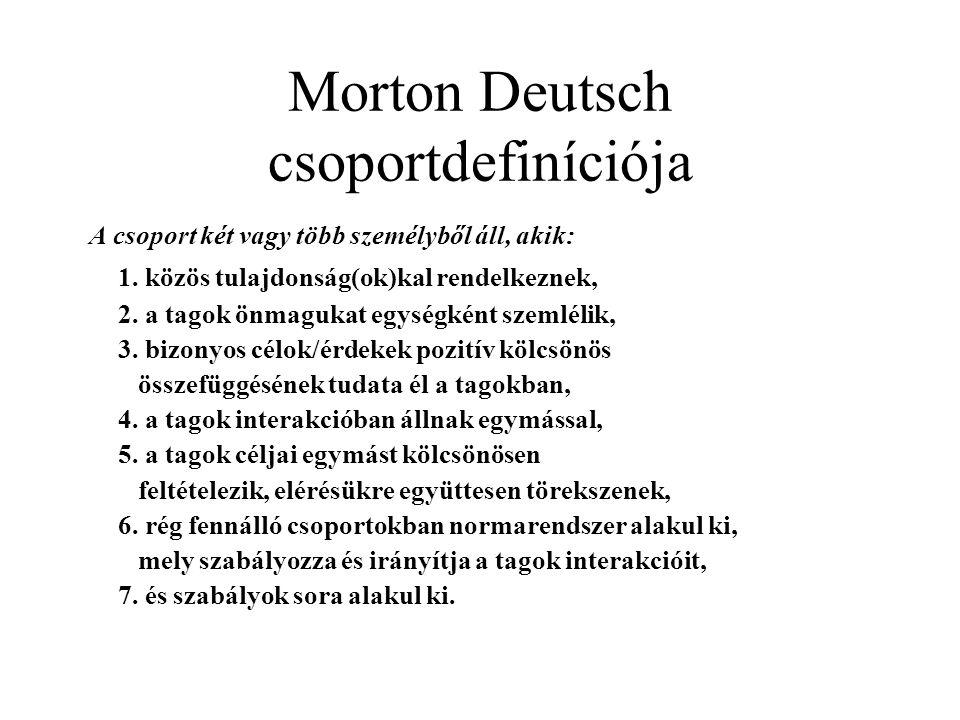 Morton Deutsch csoportdefiníciója