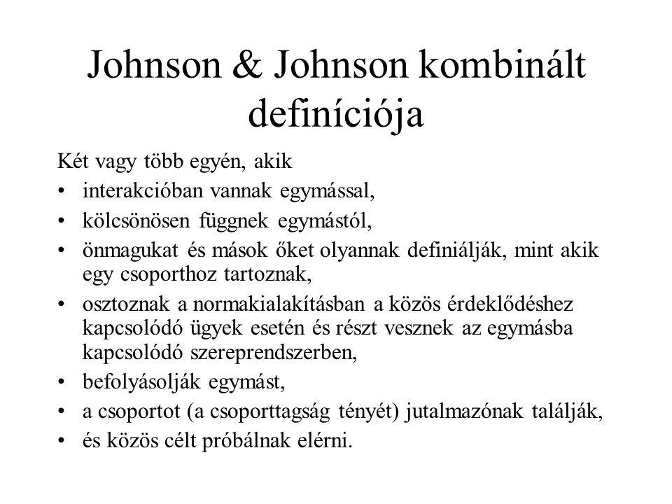 Johnson & Johnson kombinált definíciója