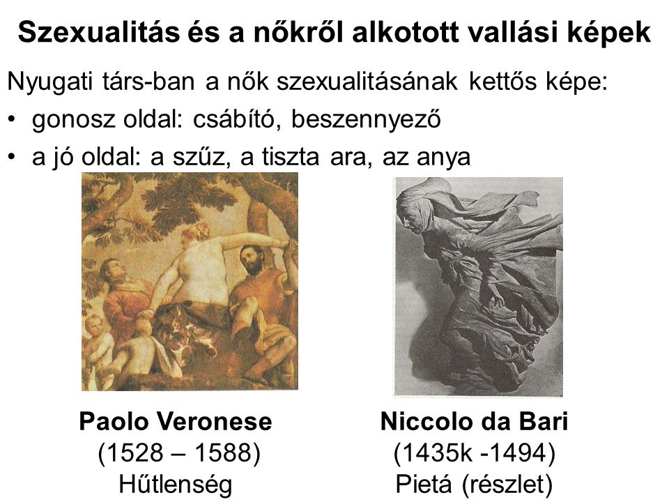 Szexualitás és a nőkről alkotott vallási képek