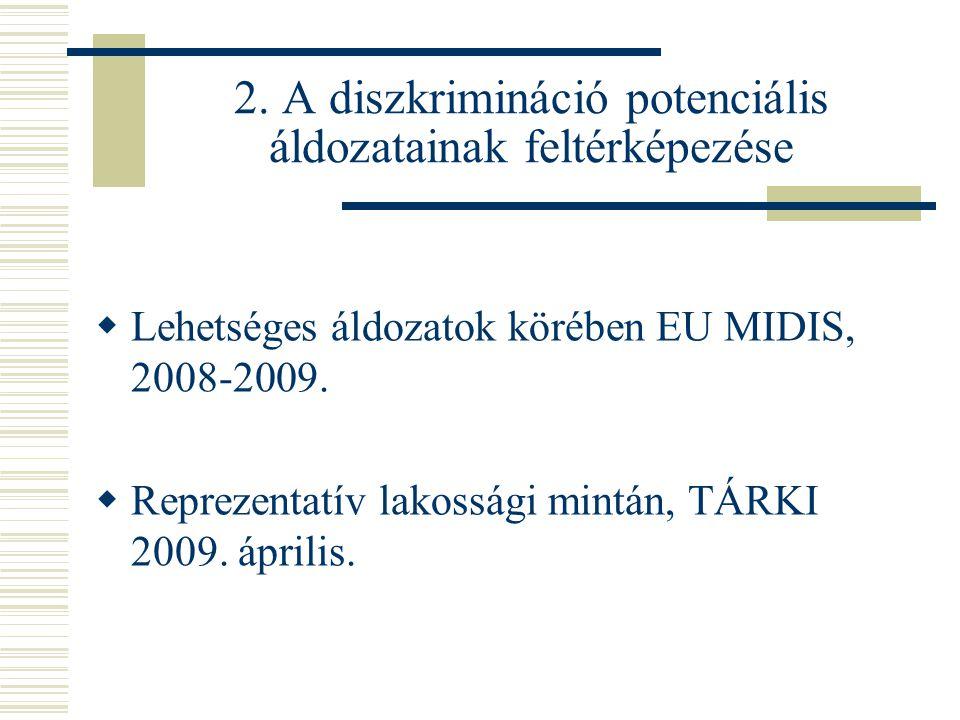 2. A diszkrimináció potenciális áldozatainak feltérképezése