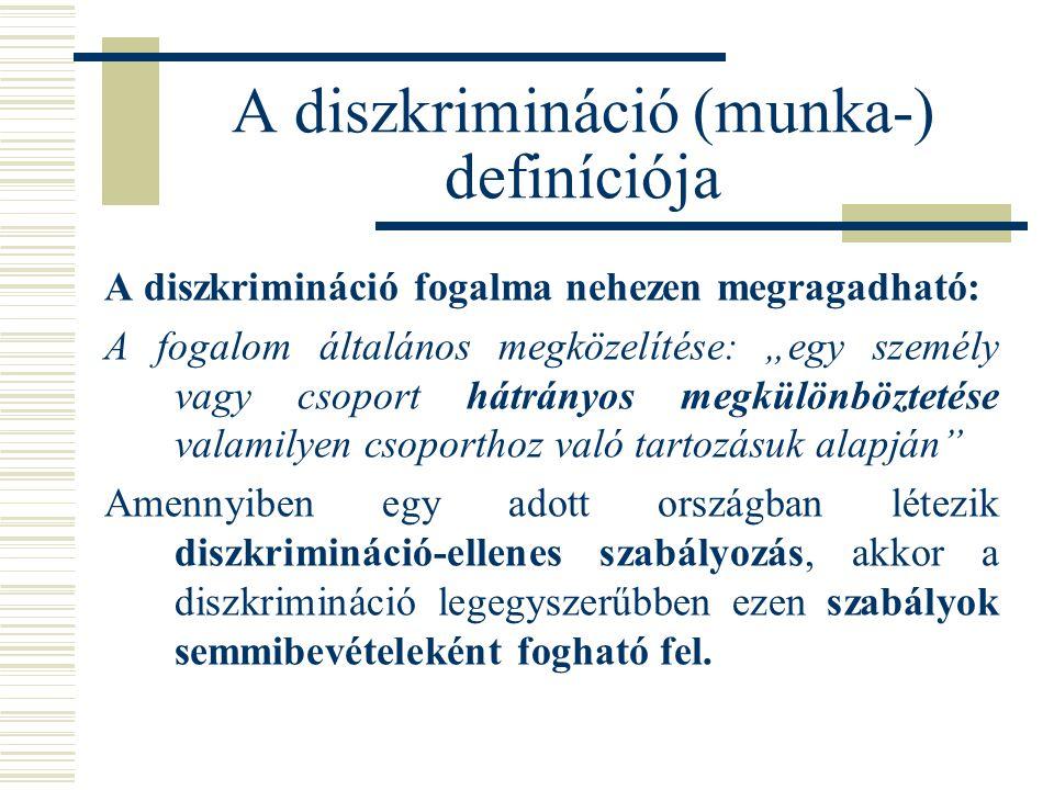 A diszkrimináció (munka-) definíciója