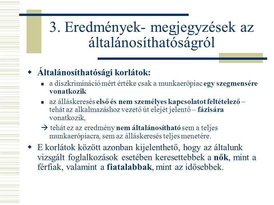 3. Eredmények- megjegyzések az általánosíthatóságról