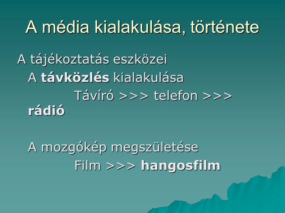 A média kialakulása, története