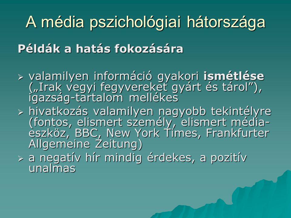 A média pszichológiai hátországa