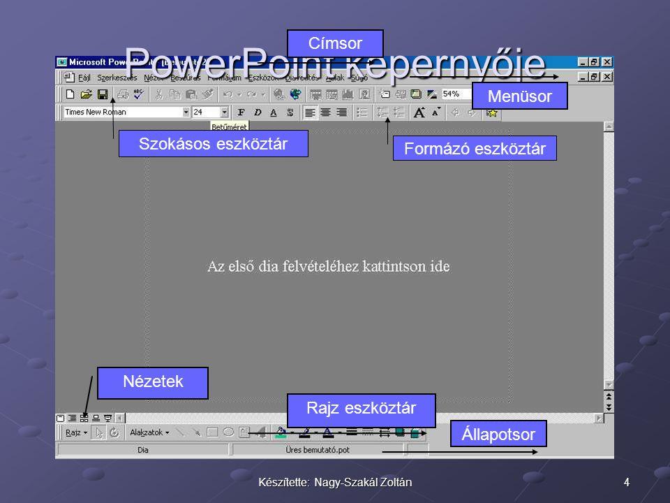 PowerPoint képernyője