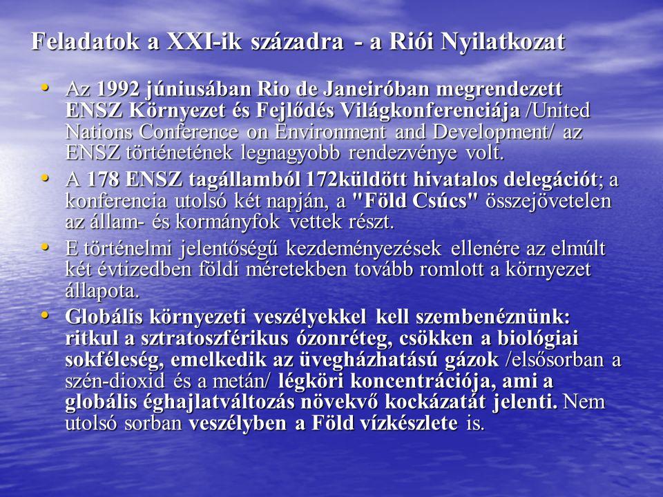Feladatok a XXI-ik századra - a Riói Nyilatkozat