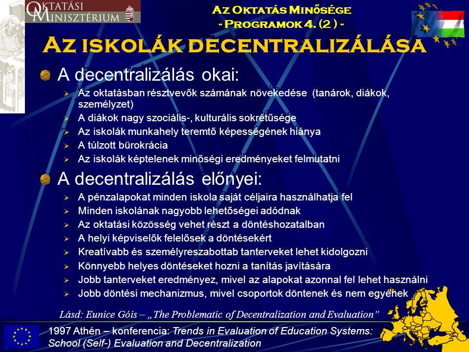 Az iskolák decentralizálása