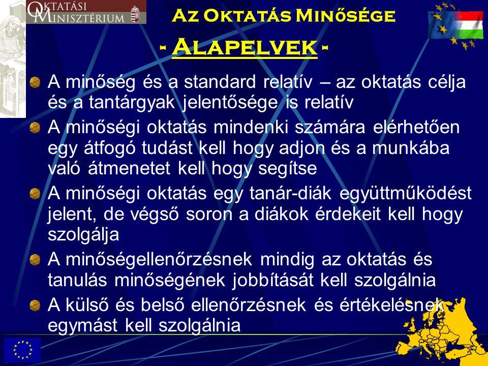 - Alapelvek - Az Oktatás Minősége