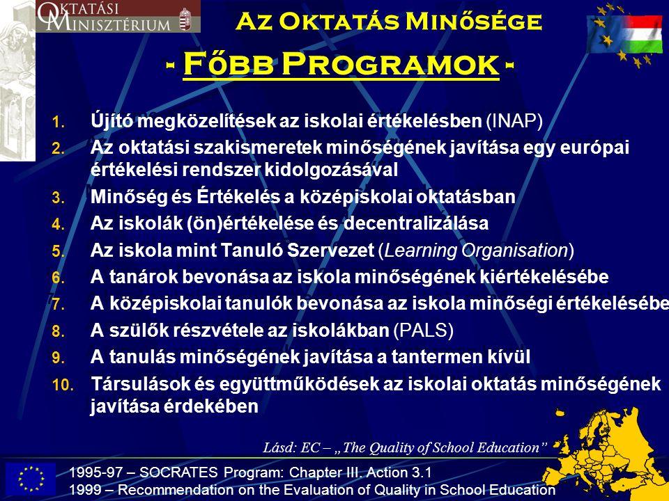 - Főbb Programok - Az Oktatás Minősége