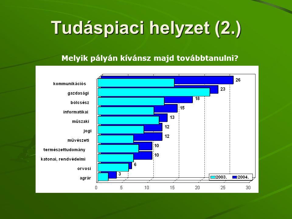Tudáspiaci helyzet (2.) Melyik pályán kívánsz majd továbbtanulni