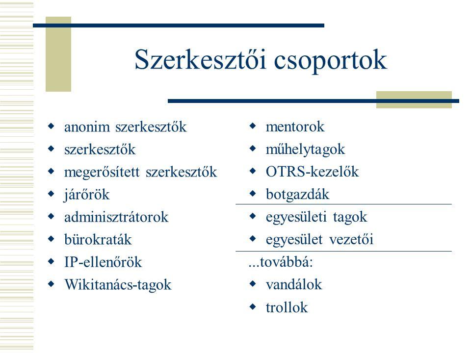 Szerkesztői csoportok