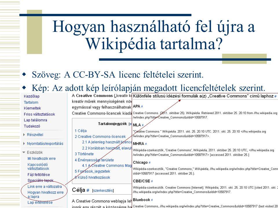Hogyan használható fel újra a Wikipédia tartalma