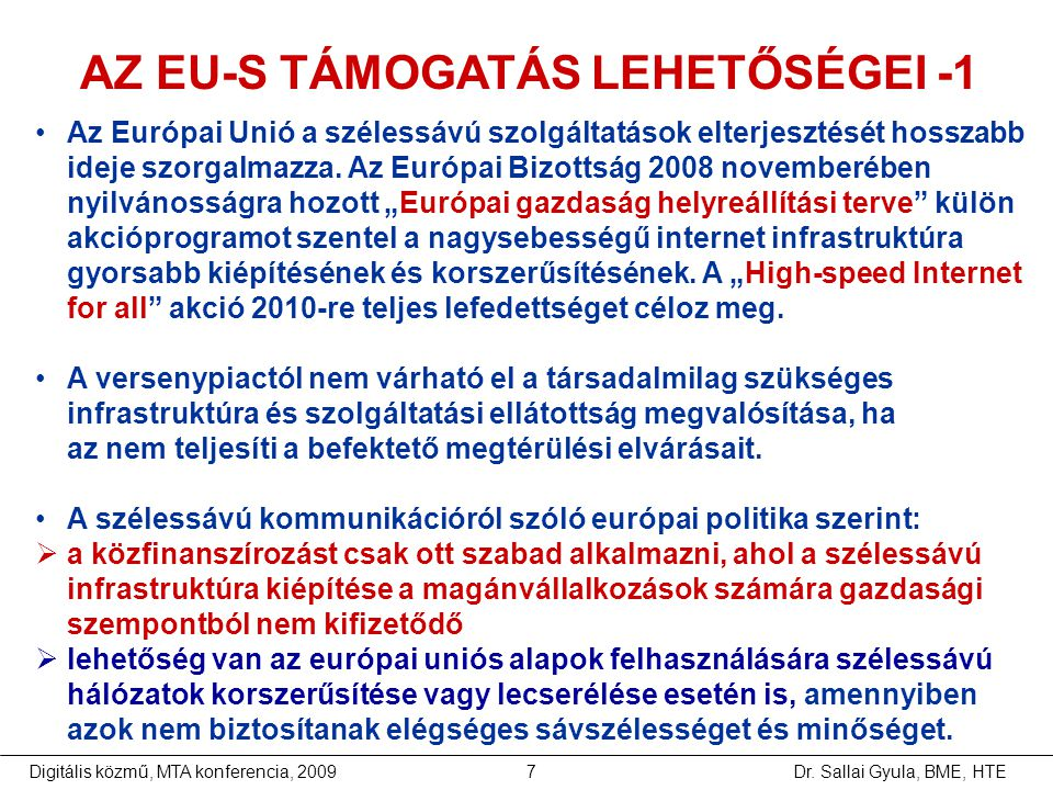 AZ EU-S TÁMOGATÁS LEHETŐSÉGEI -1