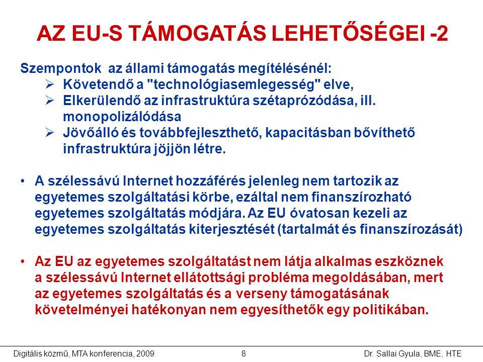 AZ EU-S TÁMOGATÁS LEHETŐSÉGEI -2