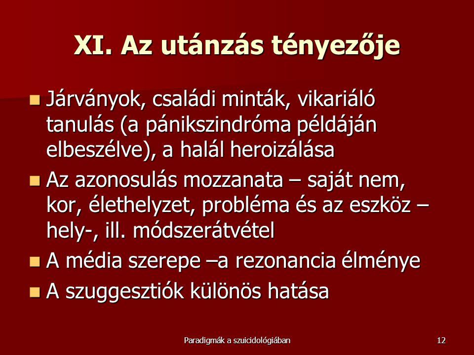 XI. Az utánzás tényezője