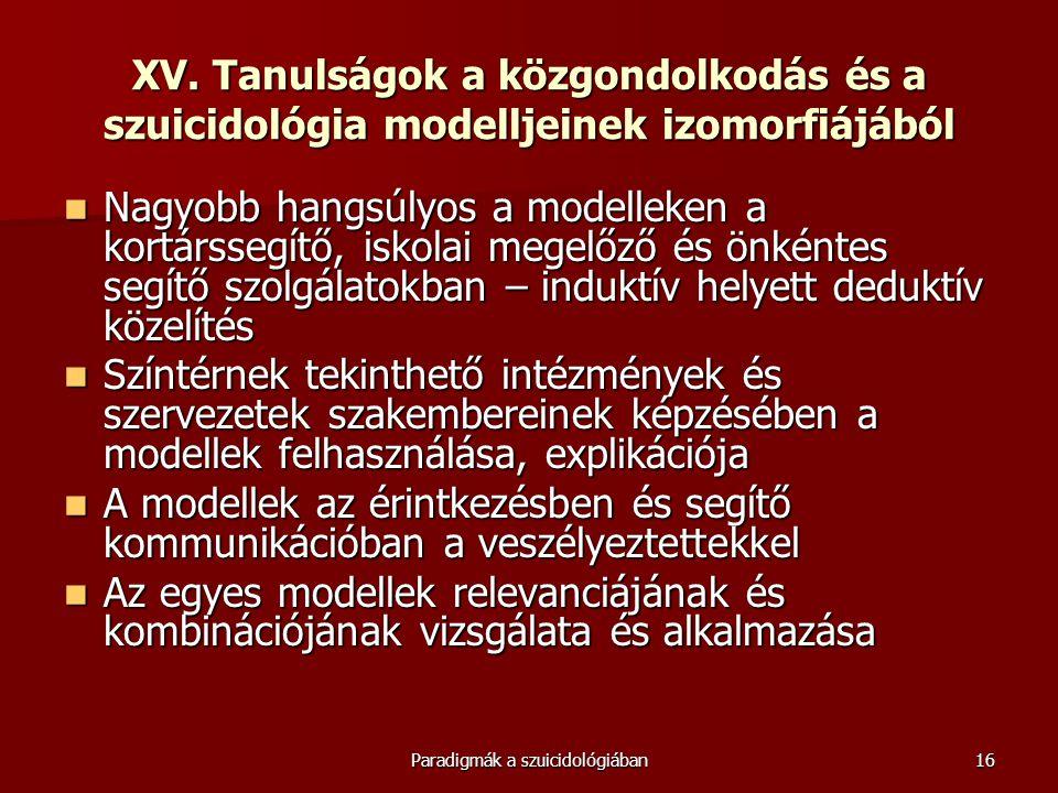 Paradigmák a szuicidológiában