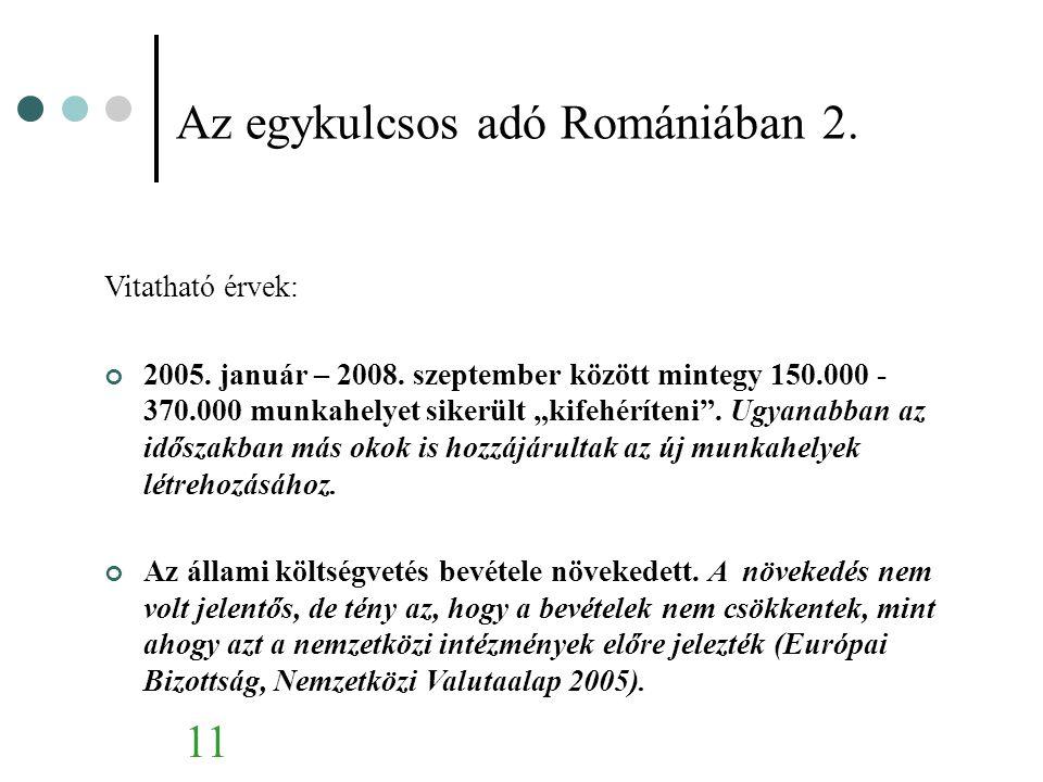 Az egykulcsos adó Romániában 2.