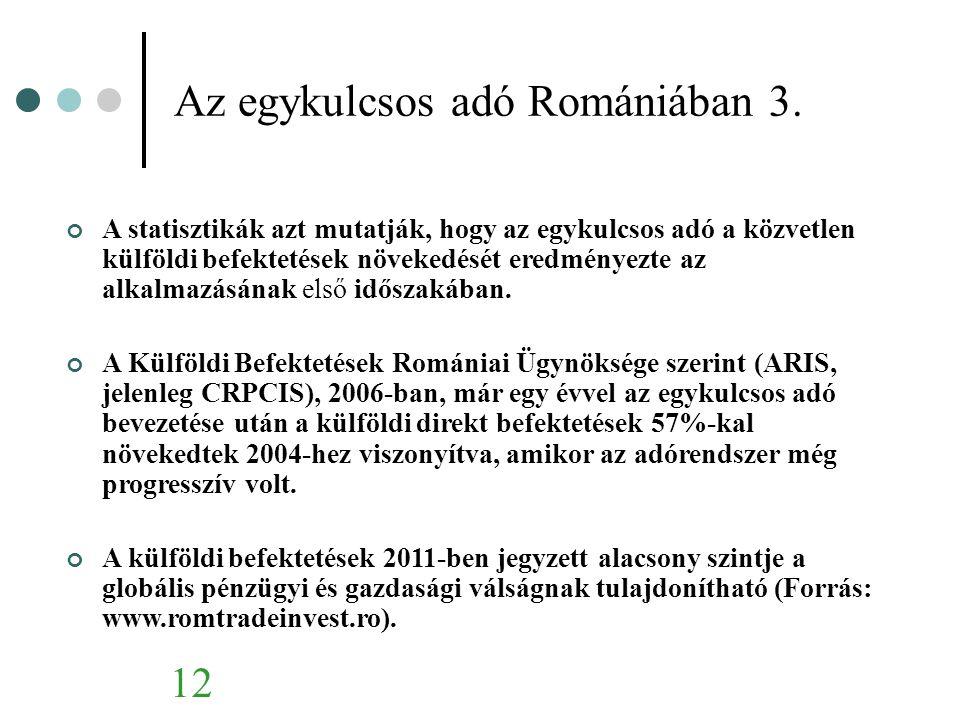 Az egykulcsos adó Romániában 3.